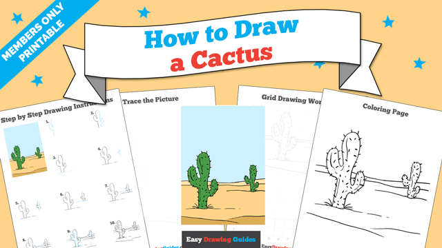 download a printable PDF of Cactus drawing tutorial