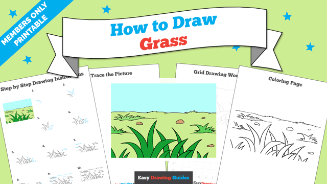 Printables thumbnail: How to draw Grass