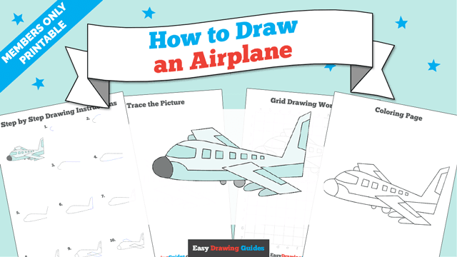 download a printable PDF of Plane drawing tutorial