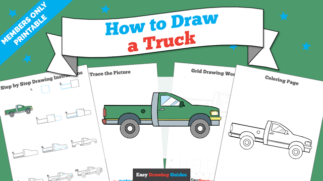 download a printable PDF of Truck drawing tutorial