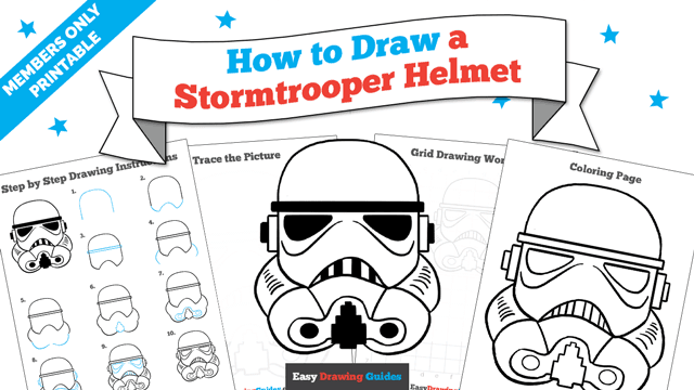 download a printable PDF of Stormtrooper Helmet drawing tutorial