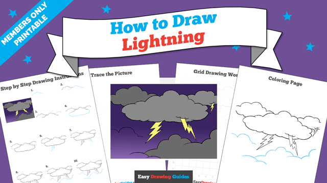 download a printable PDF of Lightning drawing tutorial