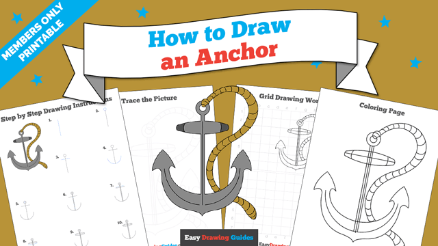 download a printable PDF of Anchor drawing tutorial