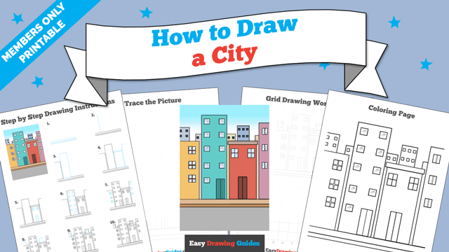 download a printable PDF of City drawing tutorial