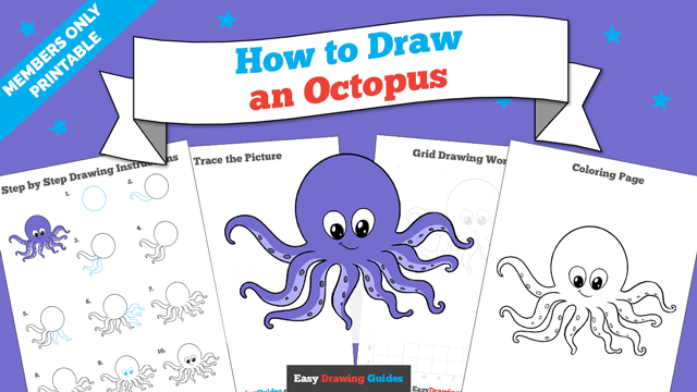 download a printable PDF of Octopus drawing tutorial