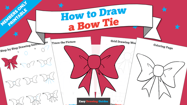 download a printable PDF of Bow Tie drawing tutorial
