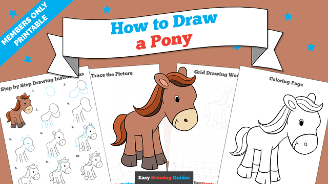 download a printable PDF of Pony drawing tutorial