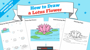 Printables thumbnail: How to draw a Lotus Flower