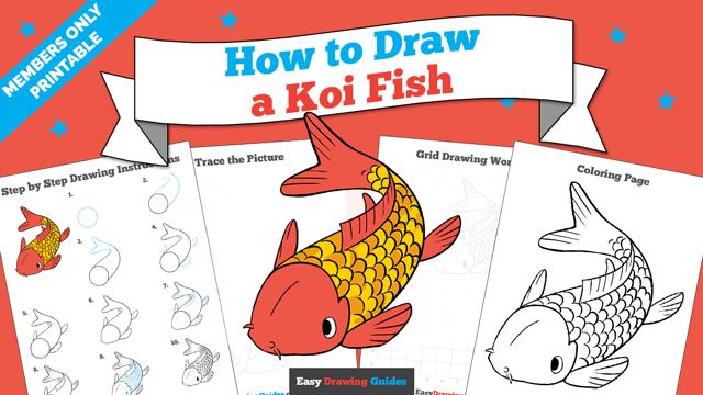download a printable PDF of Koi Fish drawing tutorial