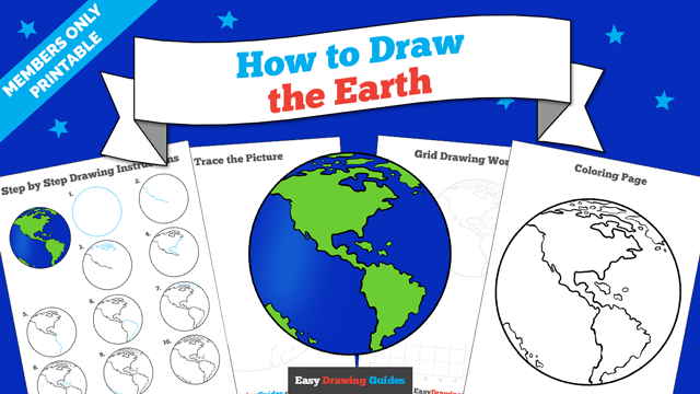 Printables thumbnail: How to draw the Earth