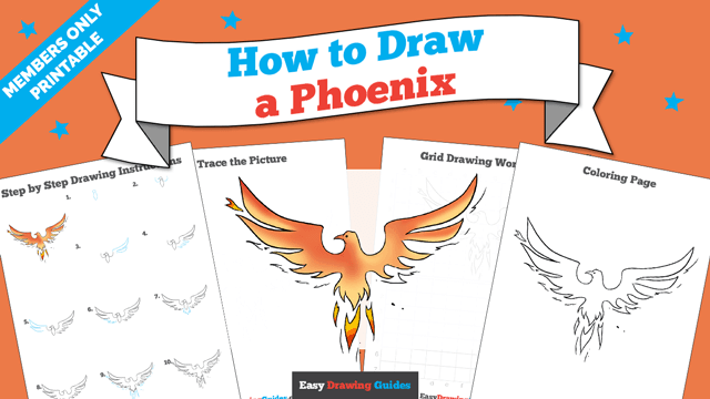 download a printable PDF of Phoenix drawing tutorial