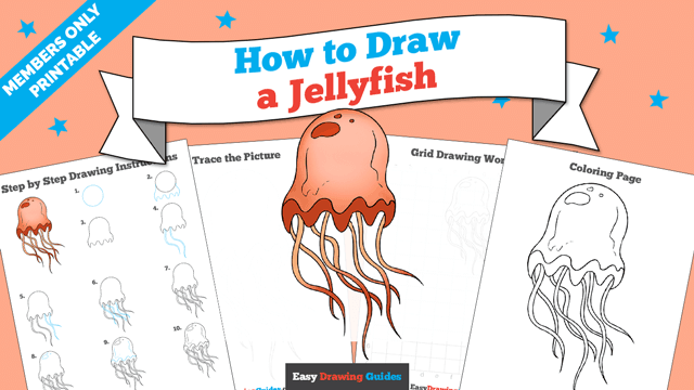 download a printable PDF of Jellyfish drawing tutorial