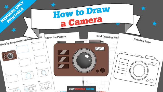 download a printable PDF of Camera drawing tutorial