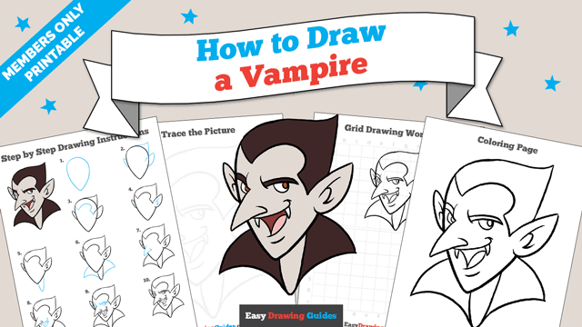download a printable PDF of Vampire drawing tutorial