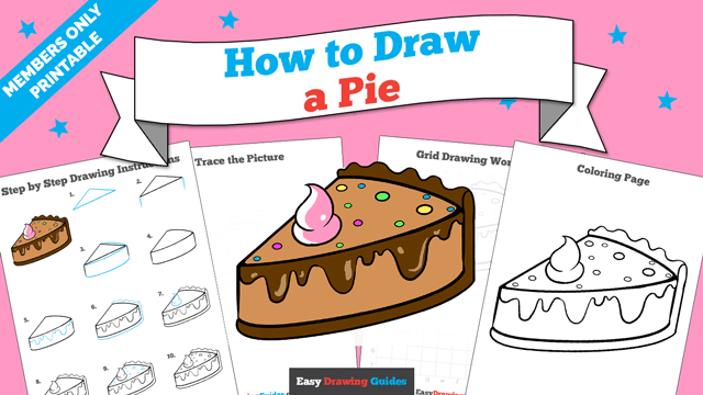 download a printable PDF of Pie drawing tutorial