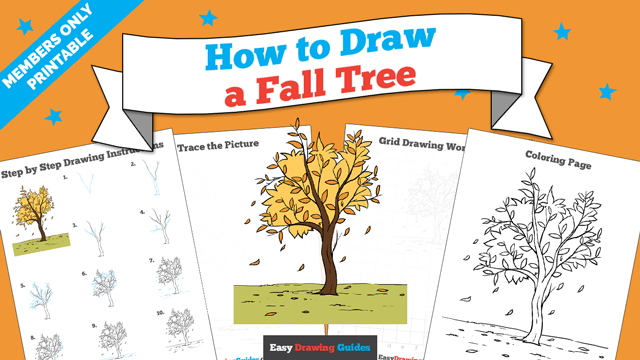 download a printable PDF of Fall Tree drawing tutorial