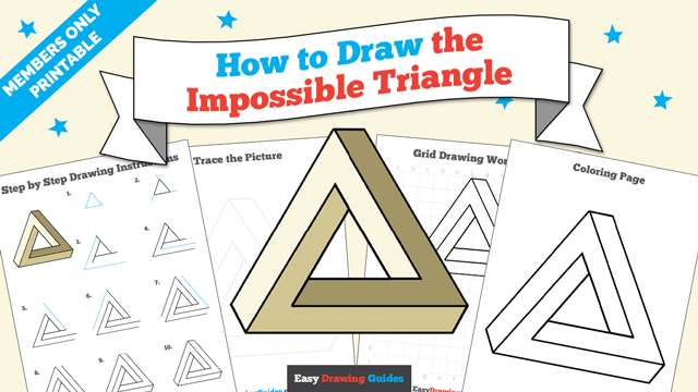 download a printable PDF of Impossible Triangle drawing tutorial
