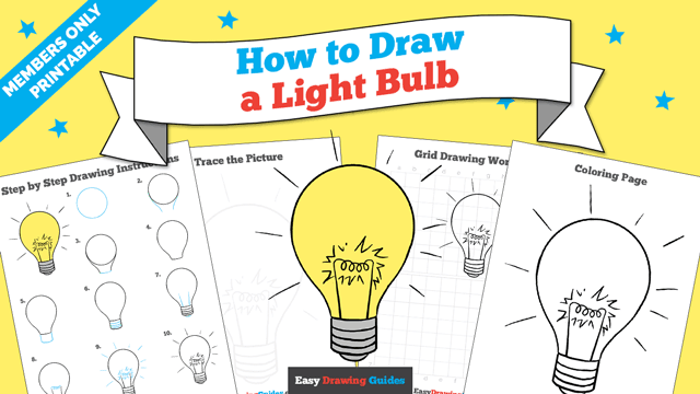 download a printable PDF of Light Bulb drawing tutorial