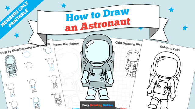 download a printable PDF of Astronaut drawing tutorial