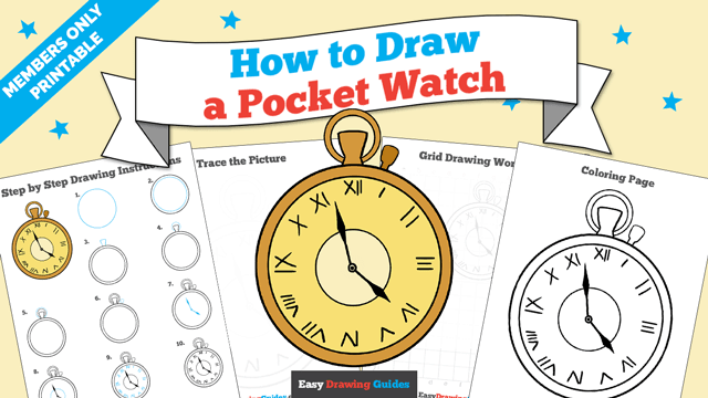 Printables thumbnail: How to draw a Pocket Watch