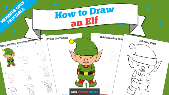 download a printable PDF of Elf drawing tutorial