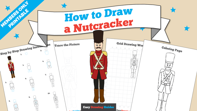 download a printable PDF of Nut Cracker drawing tutorial