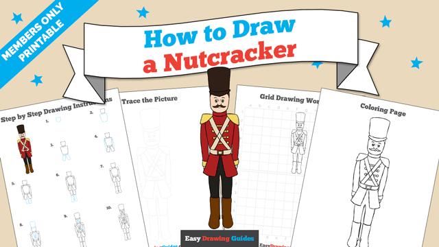 Printables thumbnail: How to draw a Nutcracker