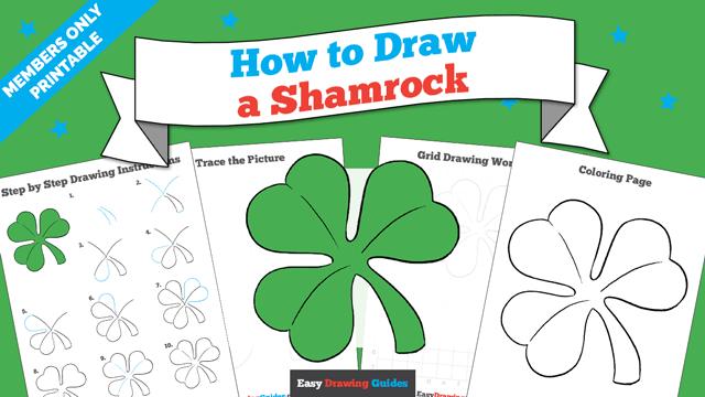 download a printable PDF of Shamrock drawing tutorial