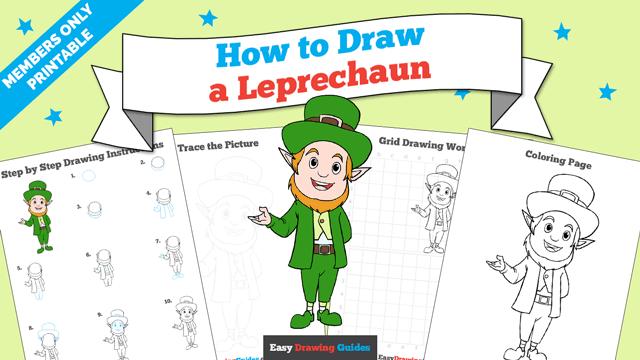 Printables thumbnail: How to draw a Leprechaun