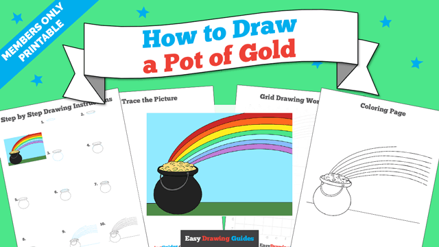 download a printable PDF of Pot of Gold drawing tutorial