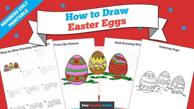 download a printable PDF of Easter Eggs drawing tutorial