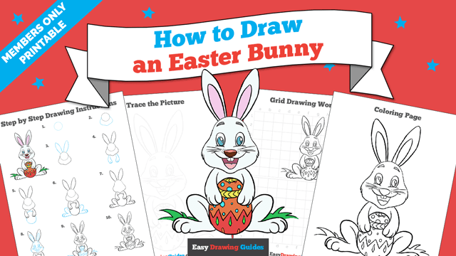 Printables thumbnail: How to draw an Easter Bunny