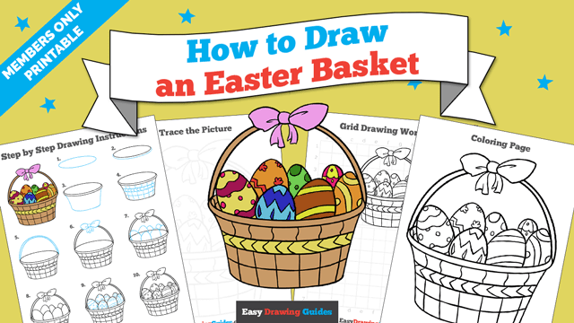 download a printable PDF of Easter Basket drawing tutorial