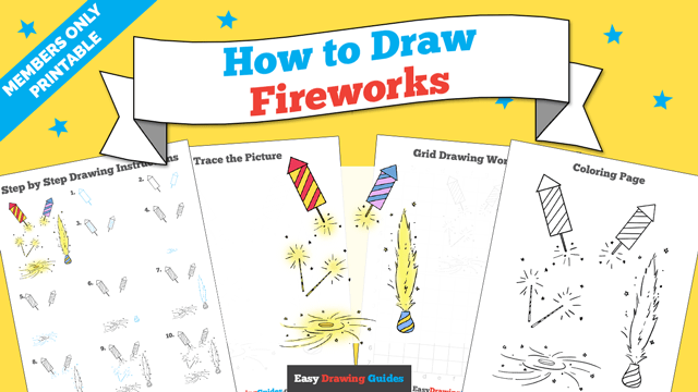 download a printable PDF of Fireworks drawing tutorial