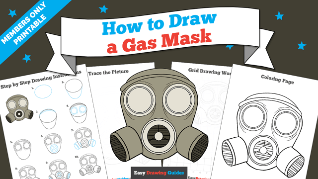 download a printable PDF of Gas Mask drawing tutorial