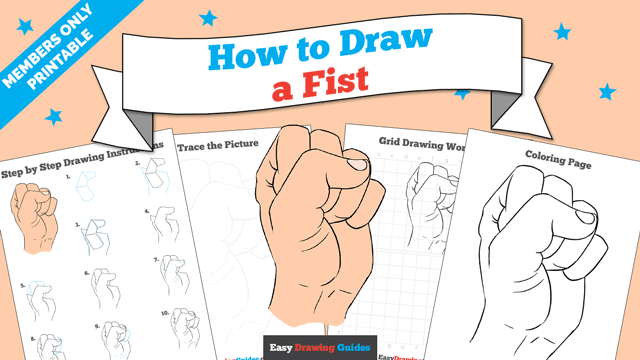 download a printable PDF of Fist drawing tutorial