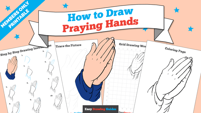 download a printable PDF of Praying Hands drawing tutorial