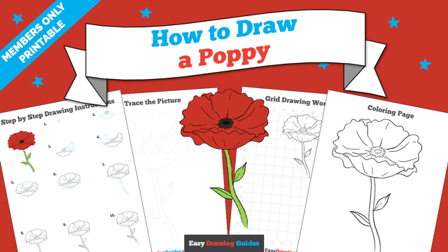 download a printable PDF of Poppy drawing tutorial