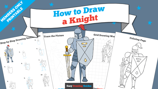 download a printable PDF of Knight drawing tutorial
