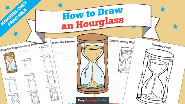 download a printable PDF of Hourglass drawing tutorial