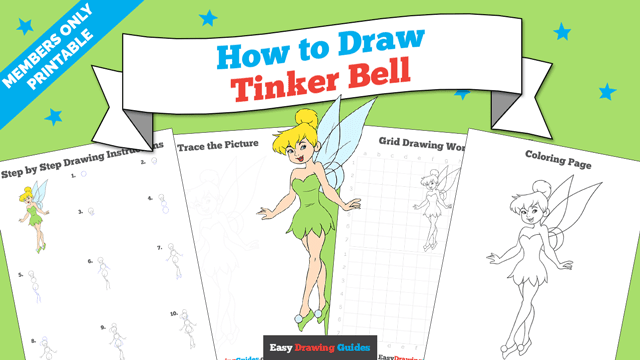 download a printable PDF of Tinkerbell drawing tutorial
