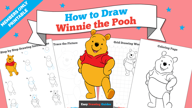 download a printable PDF of Winnie the Pooh drawing tutorial