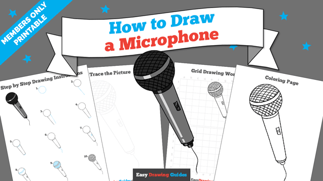 download a printable PDF of Microphone drawing tutorial