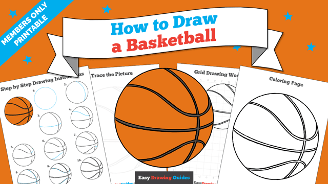 download a printable PDF of Basketball drawing tutorial
