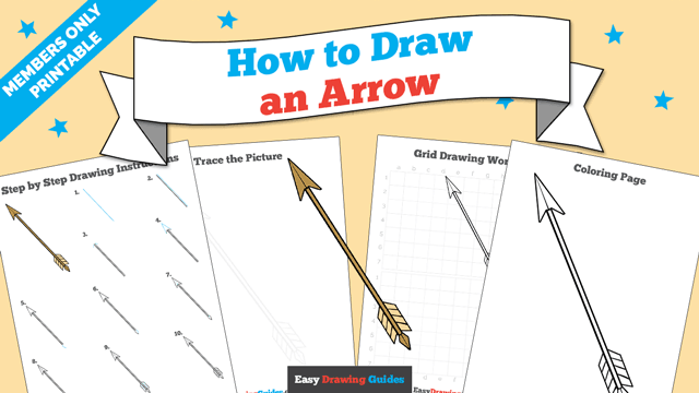 download a printable PDF of Arrow drawing tutorial