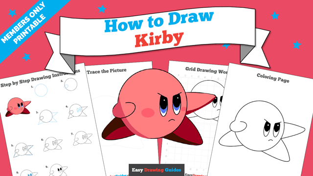 download a printable PDF of Kirby drawing tutorial