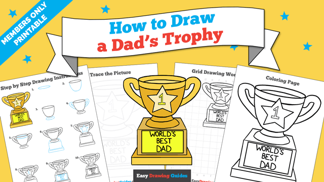 Printables thumbnail: How to draw a Dad's Trophy