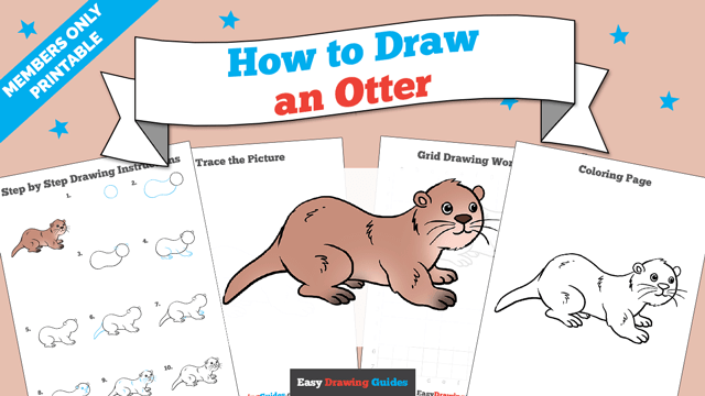 download a printable PDF of Otter drawing tutorial