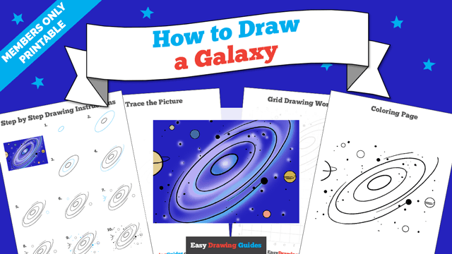 download a printable PDF of Galaxy drawing tutorial