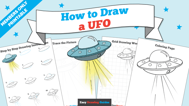 download a printable PDF of UFO drawing tutorial